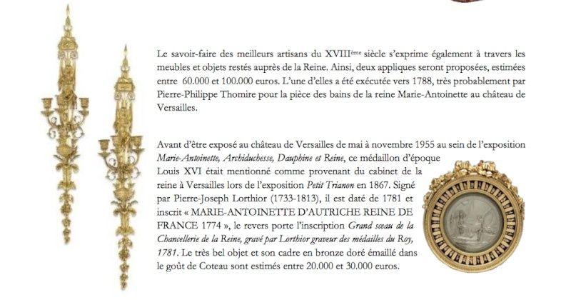 Vente Christie's, Collection Marie-Antoinette Captur57