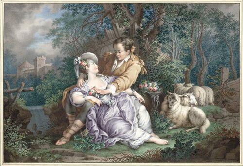 Dessins et aquarelles de Marie-Christine de Habsbourg Lorraine, soeur de Marie-Antoinette Images16