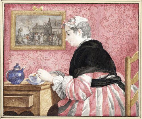 Dessins et aquarelles de Marie-Christine de Habsbourg Lorraine, soeur de Marie-Antoinette Images22