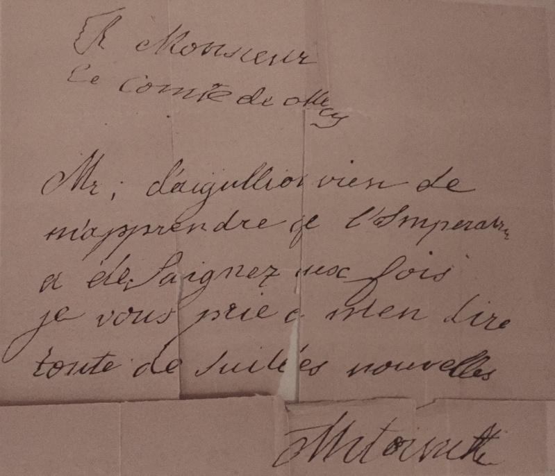 Mot de Marie Antoinette à sa femme de chambre. 19 avril 1770 Img_6910