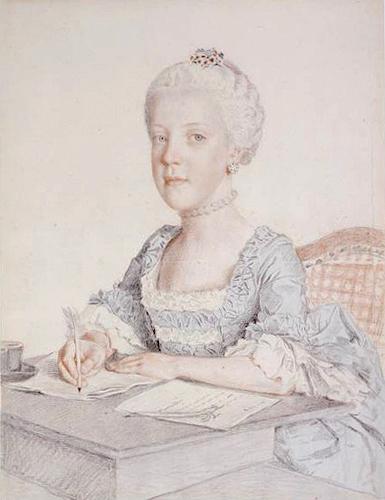 Liotard - Portraits de la famille impériale par Jean-Etienne Liotard Jeanne10