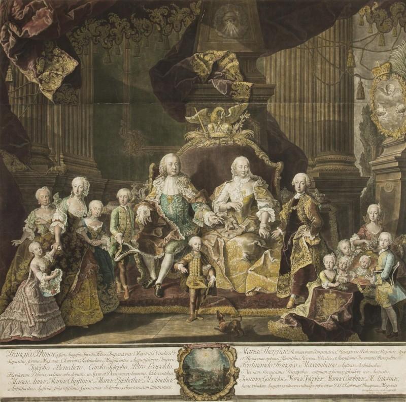 Portraits de la famille impériale autrichienne par Alexey Petrovich Antropov et Johann Hain Johann16