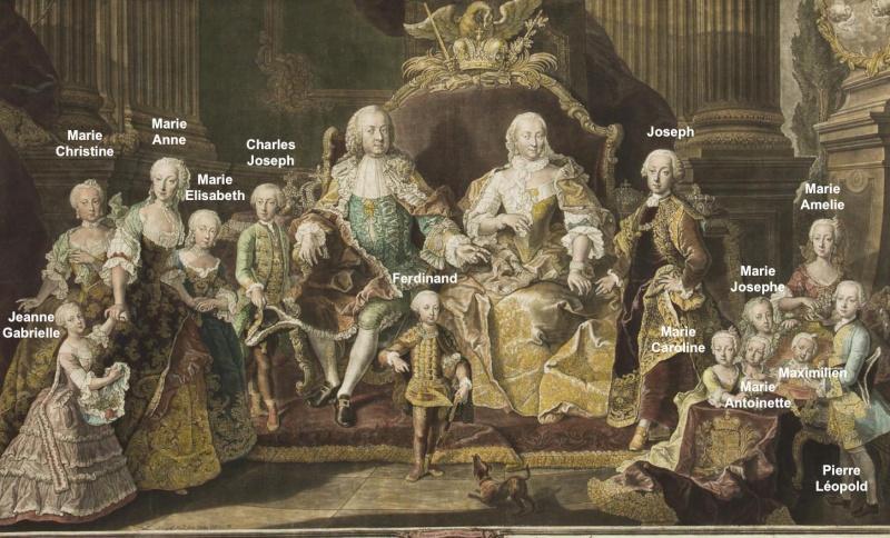 Portraits de la famille impériale autrichienne par Alexey Petrovich Antropov et Johann Hain Johann17