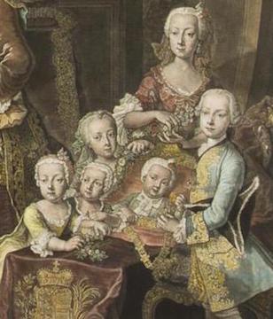 Portraits de la famille impériale autrichienne par Alexey Petrovich Antropov et Johann Hain Johann18