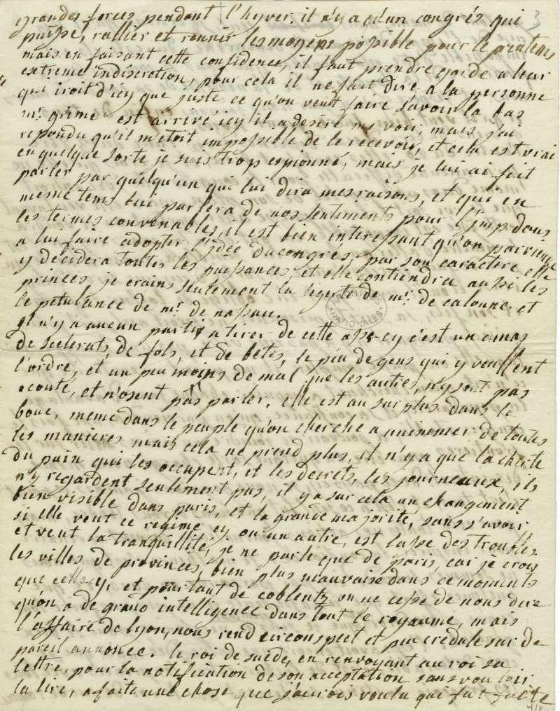 Lettres autographes de Marie-Antoinette à Fersen conservées aux A.N Lette_13