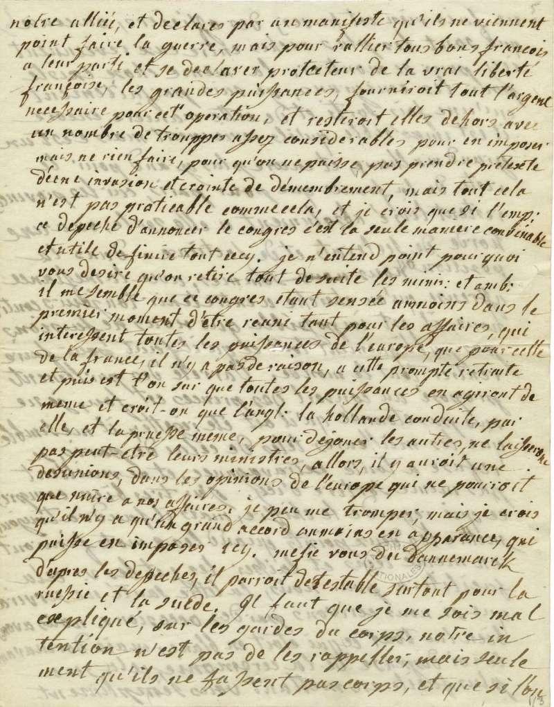 Lettres autographes de Marie-Antoinette à Fersen conservées aux A.N Lette_15