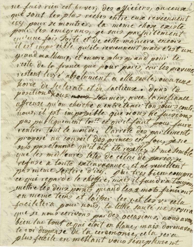 Lettres autographes de Marie-Antoinette à Fersen conservées aux A.N Lette_16