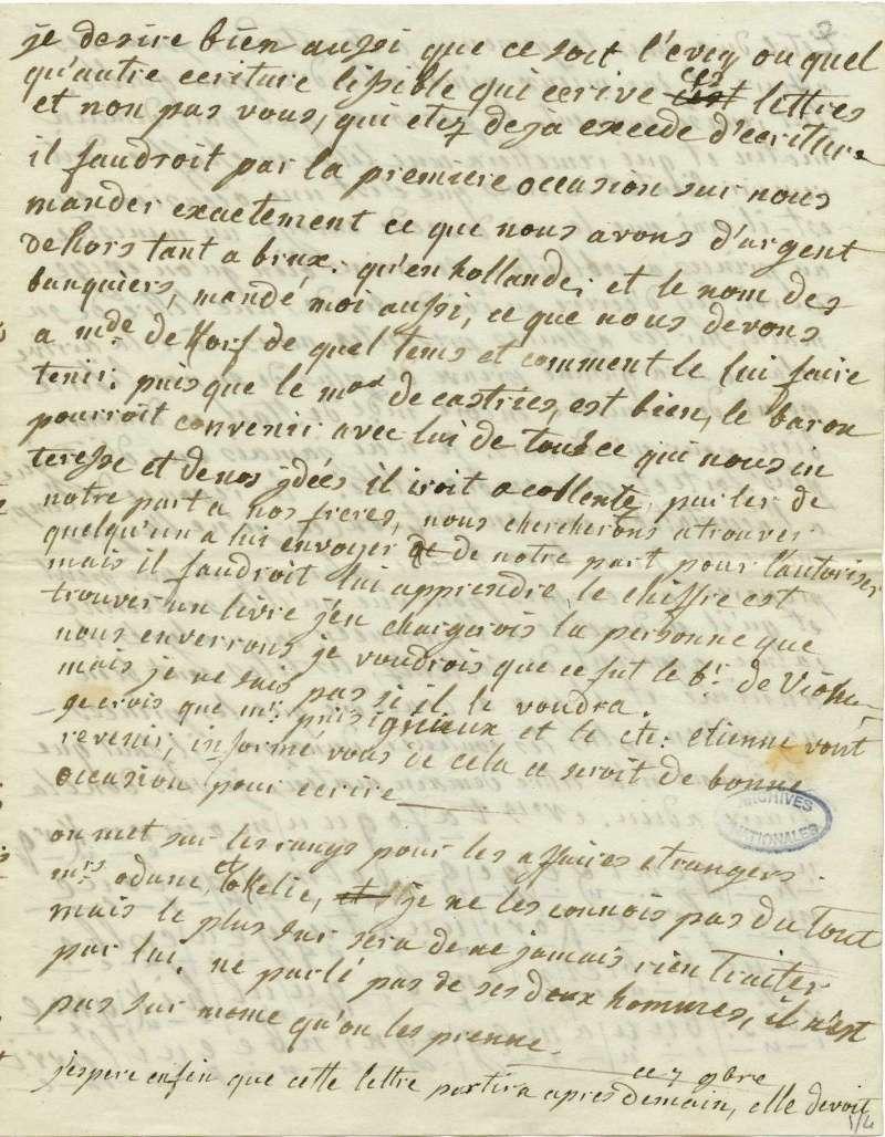 Lettres autographes de Marie-Antoinette à Fersen conservées aux A.N Lette_17