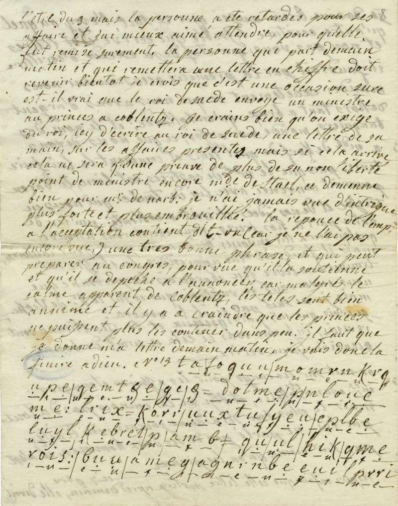 Lettres autographes de Marie-Antoinette à Fersen conservées aux A.N Lette_18