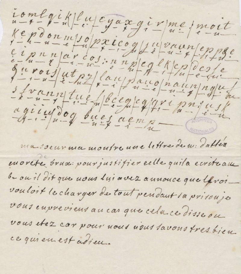 Lettres autographes de Marie-Antoinette à Fersen conservées aux A.N Lette_19