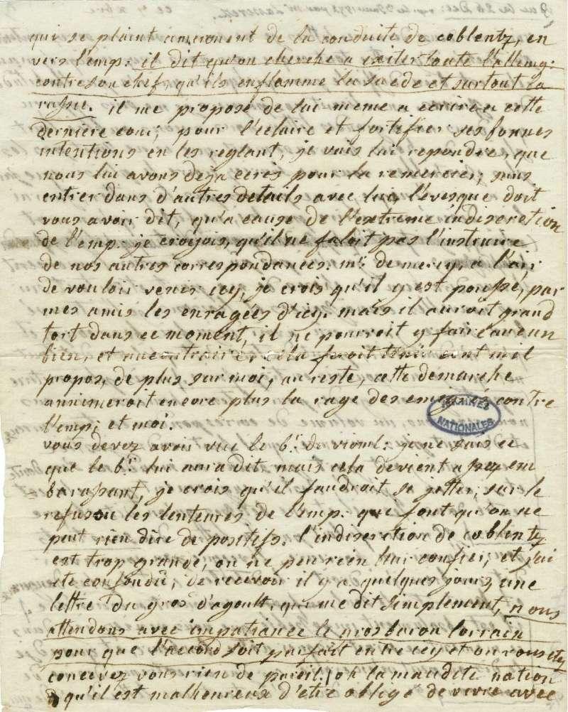 Lettres autographes de Marie-Antoinette à Fersen conservées aux A.N Lette_21