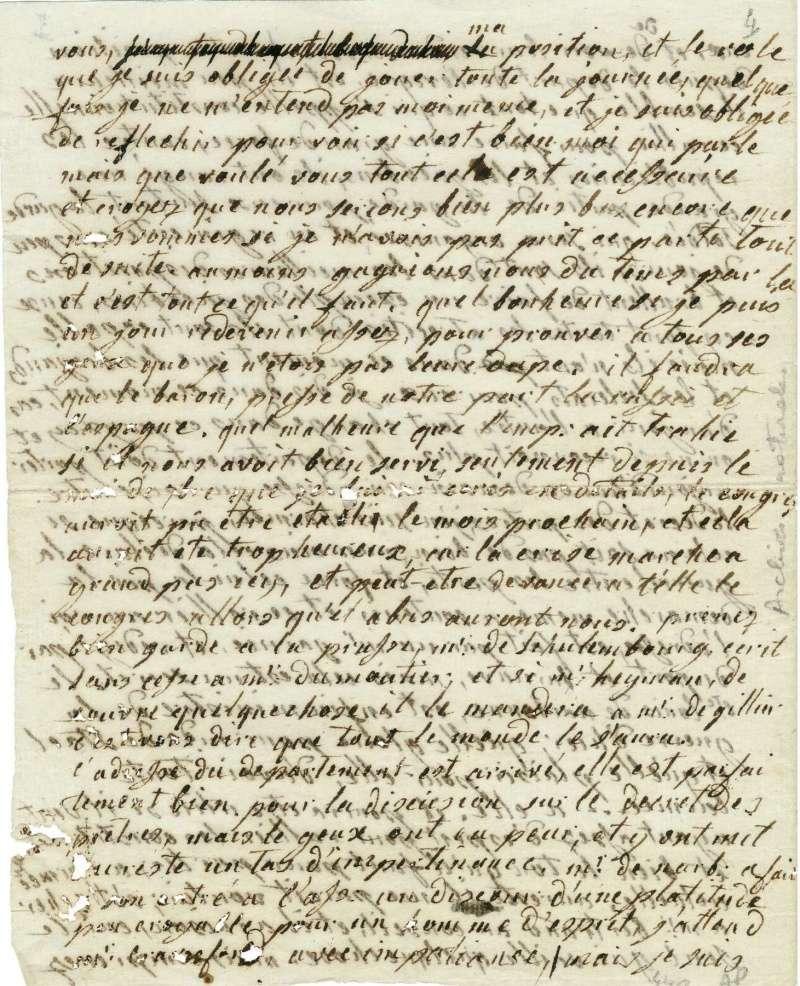 Lettres autographes de Marie-Antoinette à Fersen conservées aux A.N Lettre26