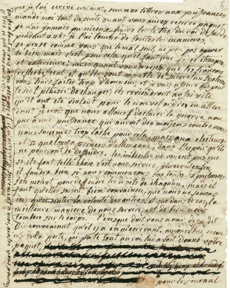 Lettres autographes de Marie-Antoinette à Fersen conservées aux A.N Lettre28