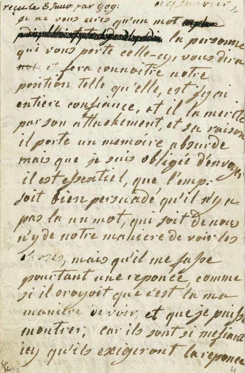 Lettres autographes de Marie-Antoinette à Fersen conservées aux A.N Lettre31