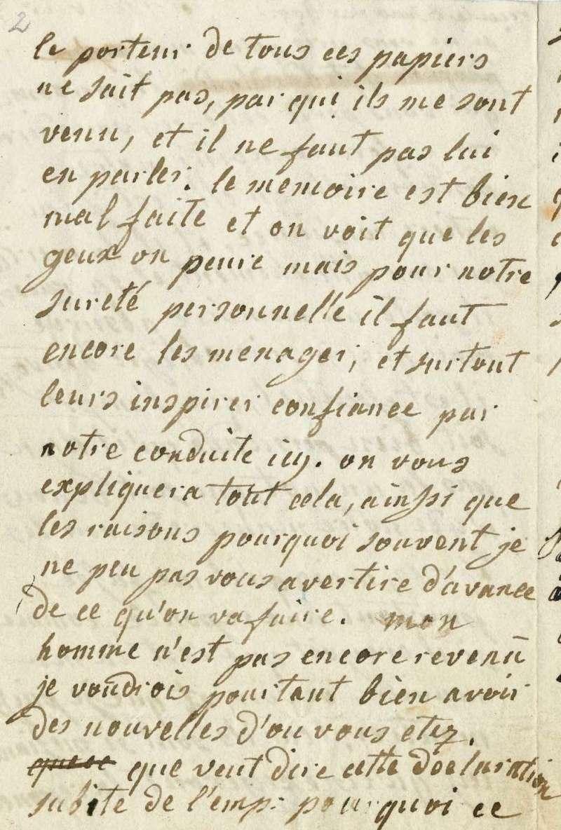 Lettres autographes de Marie-Antoinette à Fersen conservées aux A.N Lettre32