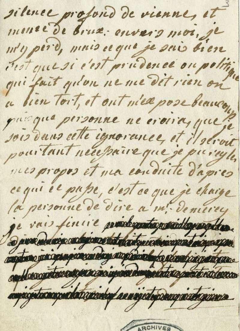 Lettres autographes de Marie-Antoinette à Fersen conservées aux A.N Lettre33