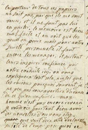 Lettres autographes de Marie-Antoinette à Fersen conservées aux A.N Lettre34