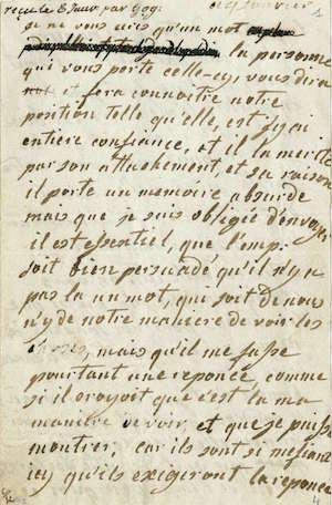 Lettres autographes de Marie-Antoinette à Fersen conservées aux A.N Lettre35