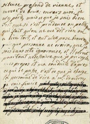 Lettres autographes de Marie-Antoinette à Fersen conservées aux A.N Lettre36