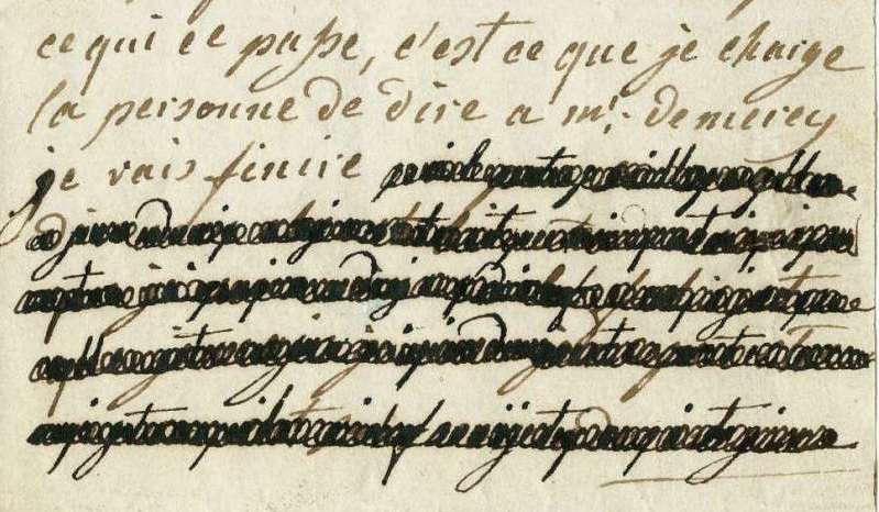 Lettres autographes de Marie-Antoinette à Fersen conservées aux A.N Lettre38