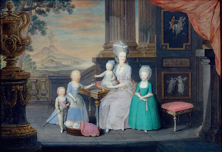 Portraits de Marie Caroline d'Autriche, reine de Naples et de Sicile Maria_13