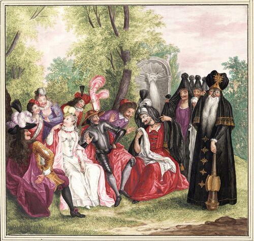 Dessins et aquarelles de Marie-Christine de Habsbourg Lorraine, soeur de Marie-Antoinette Marie100