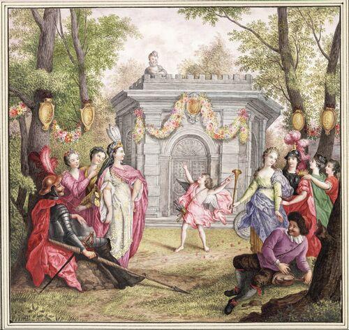 Dessins et aquarelles de Marie-Christine de Habsbourg Lorraine, soeur de Marie-Antoinette Marie103