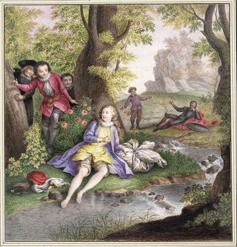 Dessins et aquarelles de Marie-Christine de Habsbourg Lorraine, soeur de Marie-Antoinette Marie105