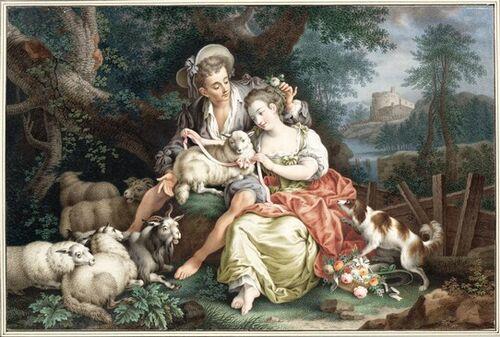Dessins et aquarelles de Marie-Christine de Habsbourg Lorraine, soeur de Marie-Antoinette Marie106