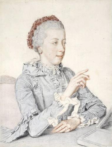 Liotard - Portraits de la famille impériale par Jean-Etienne Liotard Marie135