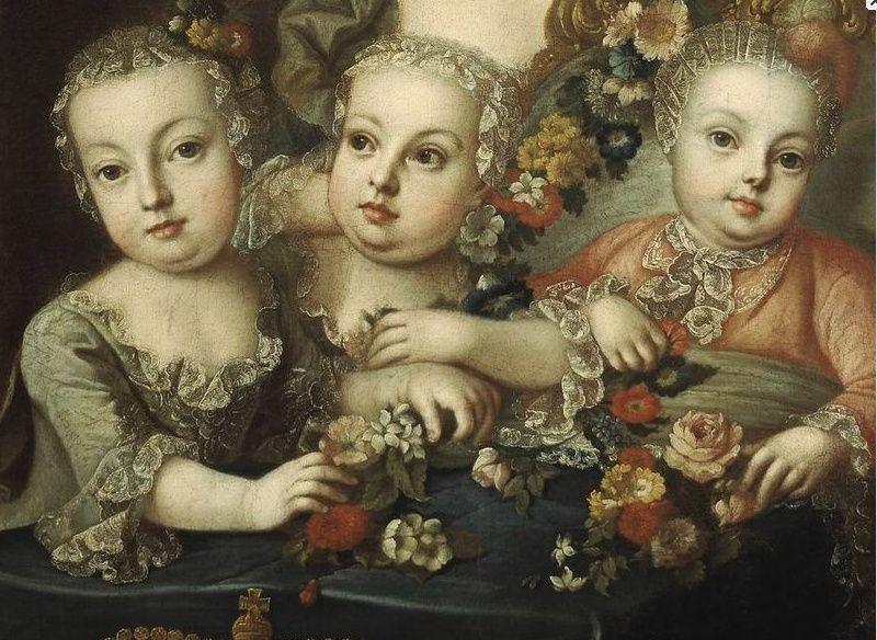 Portraits de la famille impériale autrichienne par Alexey Petrovich Antropov et Johann Hain Marie_61