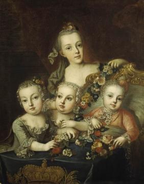 Portraits de la famille impériale autrichienne par Alexey Petrovich Antropov et Johann Hain Marie_74
