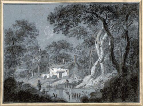 Dessins et aquarelles de Marie-Christine de Habsbourg Lorraine, soeur de Marie-Antoinette Marie_94