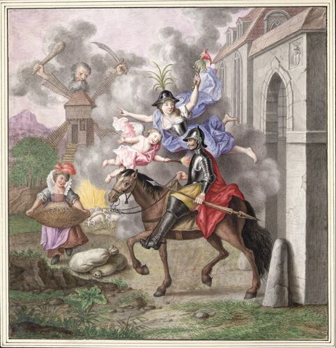 Dessins et aquarelles de Marie-Christine de Habsbourg Lorraine, soeur de Marie-Antoinette Marie_95