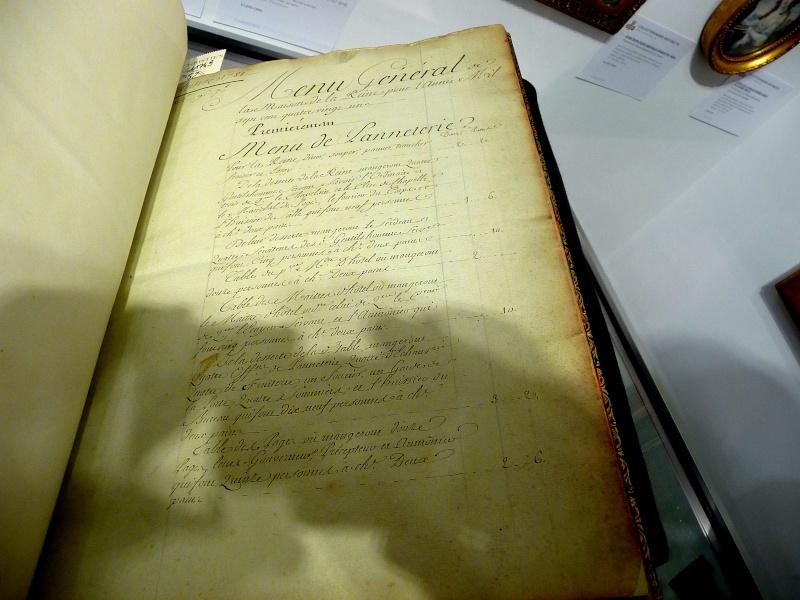 Menu général pour la Maison de la reine, 1781 P1180310