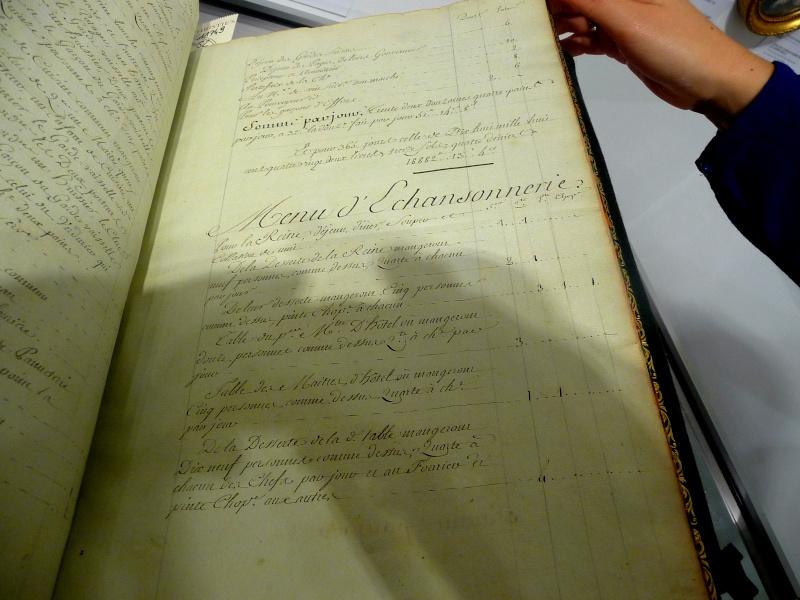 Menu général pour la Maison de la reine, 1781 P1180311