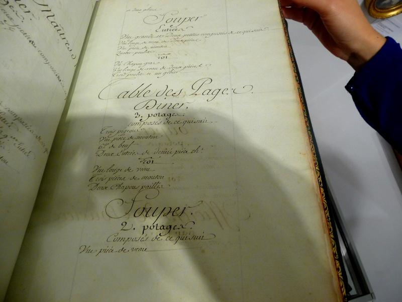 Menu général pour la Maison de la reine, 1781 P1180312
