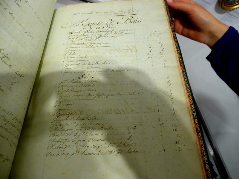 Menu général pour la Maison de la reine, 1781 P1180313
