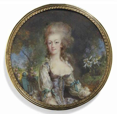 Marie Antoinette, portraits par Pierre-Adolphe Hall (Peter Adolf Hall)