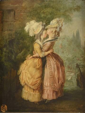 Alexandre Moitte : Marie-Antoinette et Mme Elisabeth s'embrassant ?