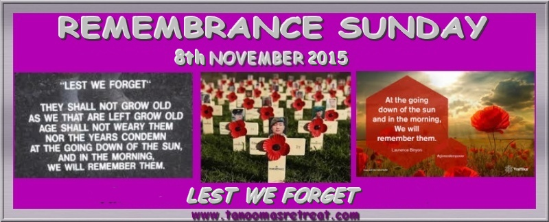 Remembrance Sunday - 8th November / Armistice Day - 11th November 8th_no10