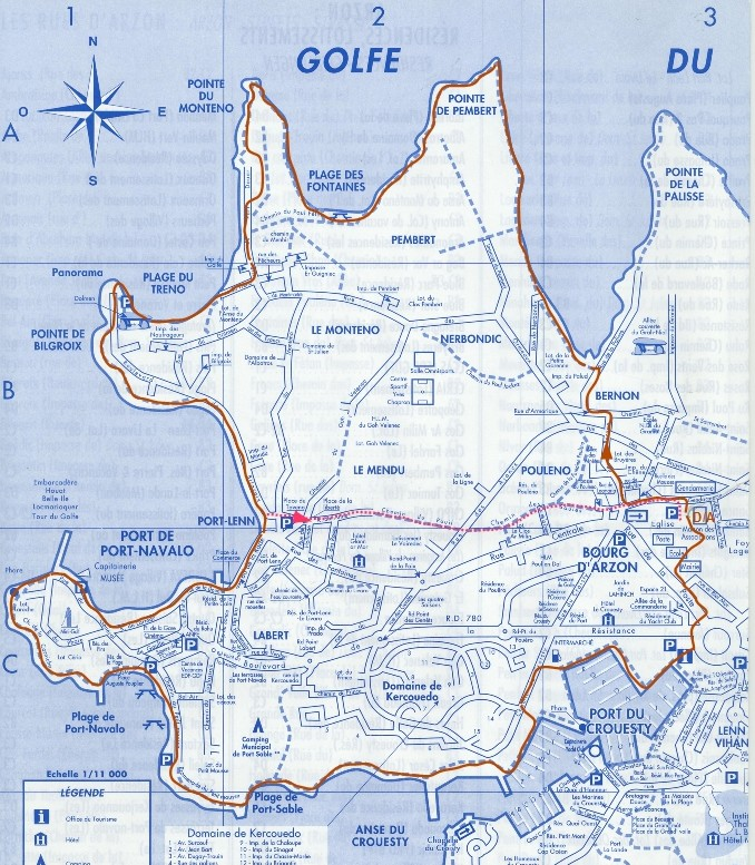Circuit n° 04 : 10,5 km, Pte de Pembert, Pte du Monteno, Bilgroix, Port Navalo, Port du Crouesty  Circui13