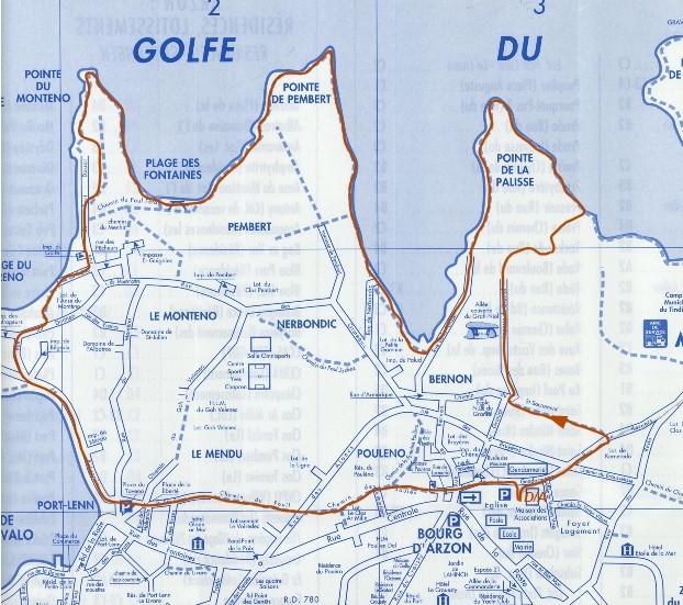Circuit n° 07 : 8,4 km , Pte de la Pallice, Pte de Pembert et du Monteno, Baie de Port Navalo Circui14
