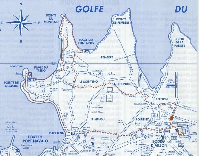Circuit n° 11 : 6.3 km; Nerbondic, Le Monténo, Pte du Monténo, Plage du Treno, Bilgroix, Baie de Port Navalo Circui17