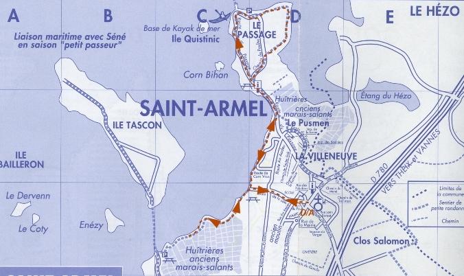 Circuit n° 10 : 6,6 km; St Armel, le Passage, vers l'île Tascon, St Armel Parcou10