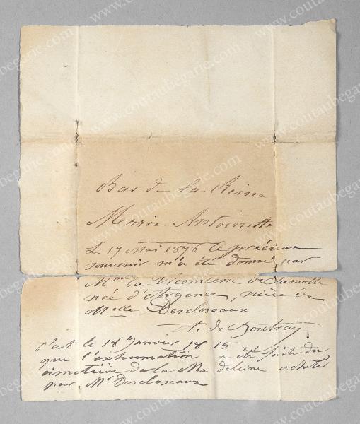 Vente de Souvenirs Historiques - aux enchères plusieurs reliques de la Reine Marie-Antoinette - Page 3 14468821