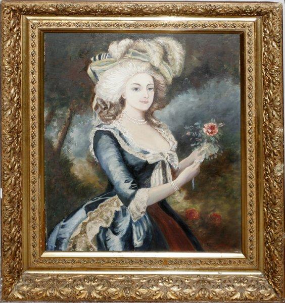 Variations sur le portrait à la rose 20954510