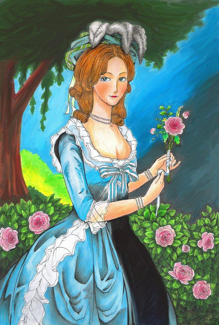 Variations sur le portrait à la rose - Page 2 Marie_11