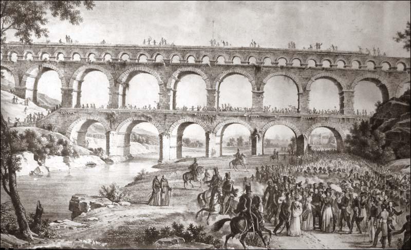Le Pont du Gard dans tous ses états - La duchesse d'Angoulême à Nîmes Pontdu10