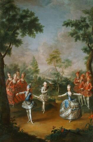 """Résultat de recherche d'images pour """"Ballet donné par les Archiducs et Archiduchesses lors du second mariage de Joseph II"""""""